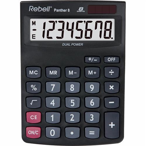 Kalkulátor stolní REBELL Panther 8 Kalkulátor stolní REBELL Panther 8