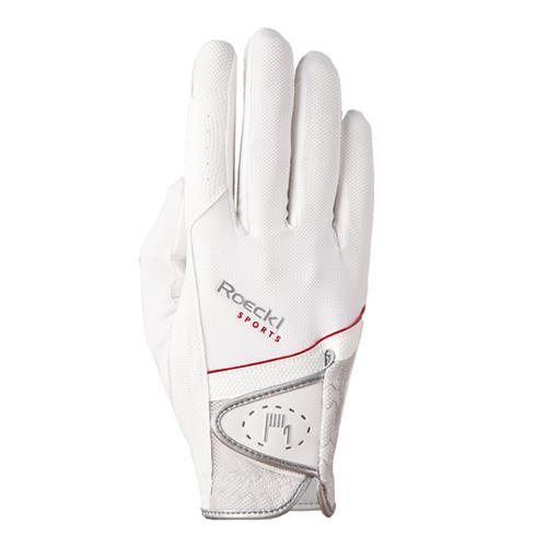 Jezdecké rukavice Roeckl Madrid, bílé - vel. 7