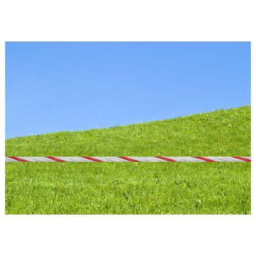 Polypropylenové lano pro elektrické ohradníky 4 mm GIGANT 4 Viditelnost lana GIGANT 4 proti zelené louce