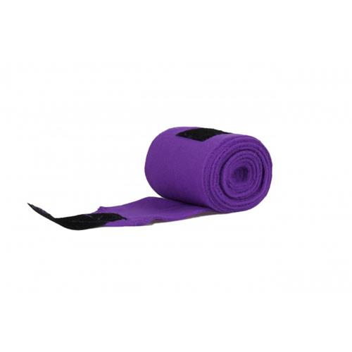 Fleesové bandáže QHP, 12 cm x 300 cm - fialové