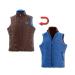 Dětská vesta ELT, oboustranná, hnědo-modrá