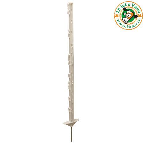 Tyčka pro elektrický ohradník STANDARD plast bílý, 10 úchytů, 90 cm Tyčka pro elektrický ohradník STANDARD plast bílý, 10 úchytů, 90 cm