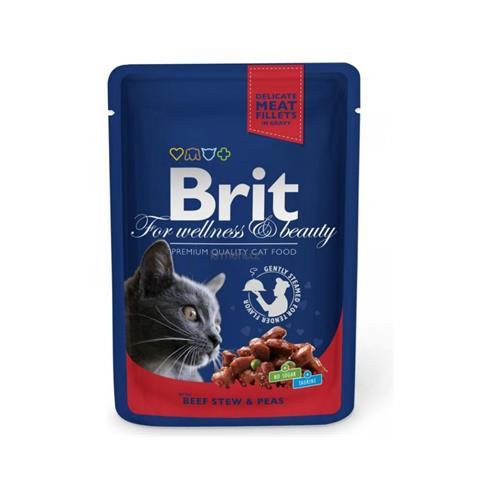 BRIT Premium Cat Beef Stew & Peas kapsička 100 g BRIT Premium Cat Beef Stew & Peas kapsička 100g
