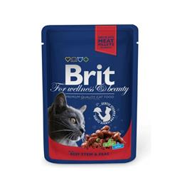 BRIT Premium Cat Beef Stew & Peas kapsička 100g