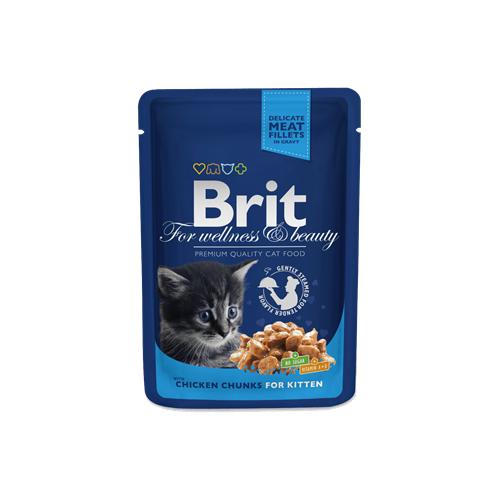 BRIT Premium Kitten Chicken Chunks kapsička 100 g BRIT Premium Kitten Chicken Chunks kapsička 100g