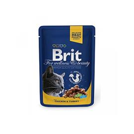BRIT Premium Cat Chicken & Turkey kapsička 100g