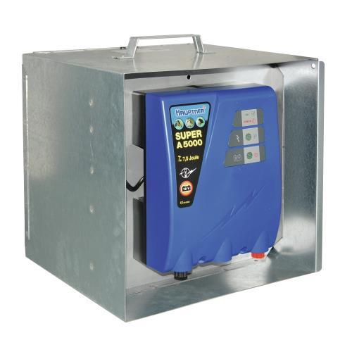 Schránka na zdroj, baterii a držák solárního panelu - pozinkovaný Schránka na zdroj, baterii a držák solárního panelu - pozinkovaný