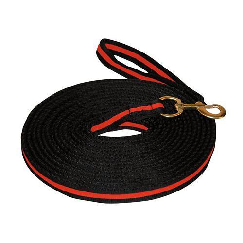Měkká lonž Kerbl, 8 m - černo-červená Lonž měkká, černo-červená, 8m