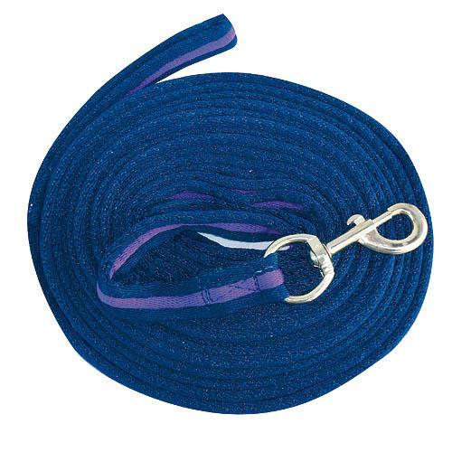 Měkká lonž Kerbl, 8 m - modro-fialová