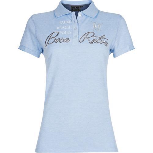 Dámské polotriko HV Polo Glades, žíhané modro-bílé - vel. XL Triko dámské HV Polo Glades, modro-b