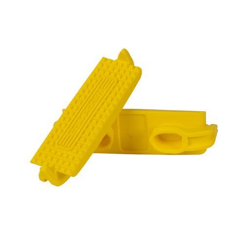 Gumy do plastových třmenů 12,5 cm, pár - žlutá