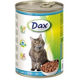 Konzerva pro kočky DAX, kousky ryba, 415 g