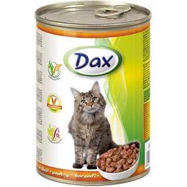 Konzerva pro kočky DAX, kousky drůbeží - 830 g