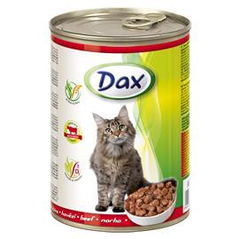 Konzerva pro kočky DAX, kousky hovězí - 415 g