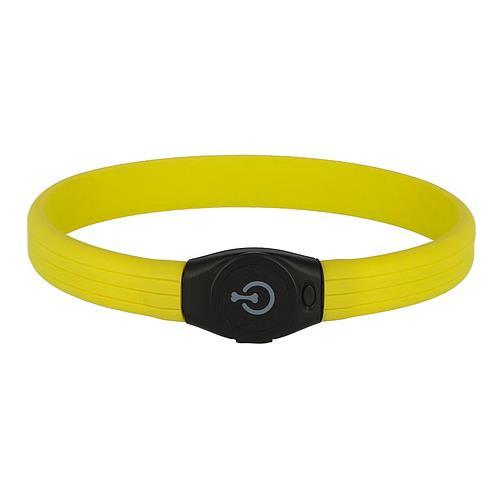 Obojek pro psa reflexní, svítící LED, 65 cm  x 1,5 cm - žlutý Obojek reflexní, svítící LED, žlutý, 65 cm x 1,5 cm