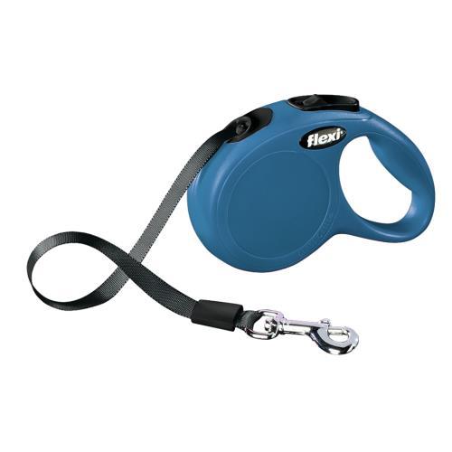 Vodítko Flexi M, páska, 5 m, do 25 kg - modré Vodítko FLEXI Classic NEW M/L pásek 5m/25kg modrá