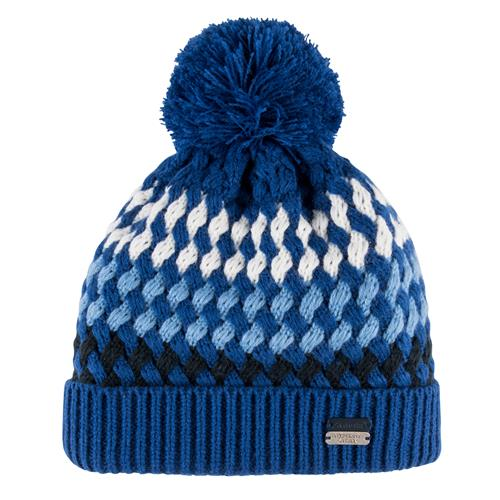 Pletená zimní čepice Euro-Star Bendi - modro-šedo-bílá Čepice zimní Eurostar Bendi, modro-šedo-bílá