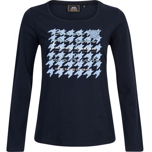Dámské triko s dlouhým rukávem HV Polo Stephany - tmavě modré, vel. M Triko dámské HV Polo Stephany, tm. modré
