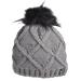 Zimní čepice s bambulí ELT Jolly - šedá