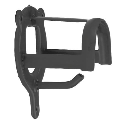 Věšák na uzdečku s háčkem - Práškový lak šedý Věšák na uzdečku s háčkem, černý