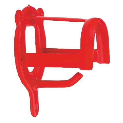 Věšák na uzdečku s háčkem - Práškový lak šedý Věšák na uzdečku s háčkem, červený