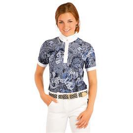 Dámské závodní triko Litex, modré s krystalky - vel. M