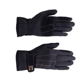 Jezdecké zimní rukavice Horze, černé, prošité