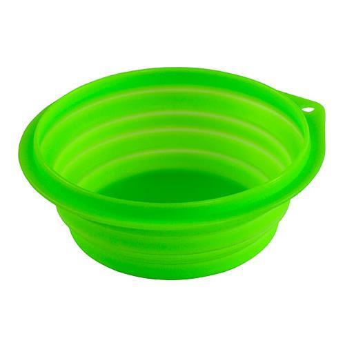 Cestovní silikonová miska pro psa, 1000ml, zelená Cestovní silikonová miska pro psa, 1000ml, zelená