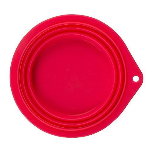 Cestovní silikonová miska pro psa, 500ml, růžová Cestovní silikonová miska pro psa, 500ml, červená