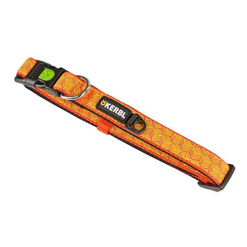 Obojek pro psa reflexní, oranžový - 20-35 cm