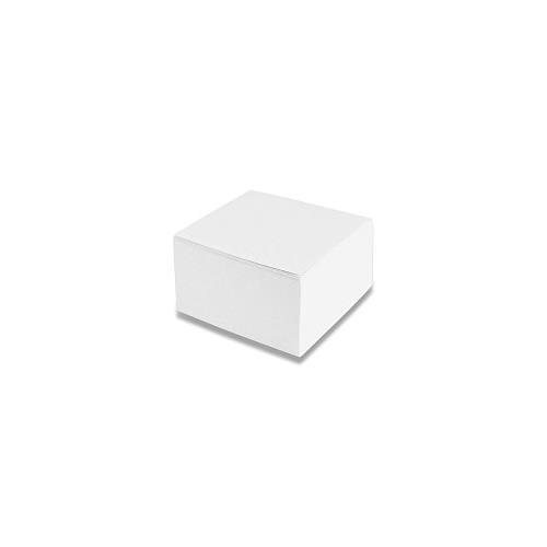 Blok, lepená kostka 85 x 85 x 40mm, bílá Blok, lepená kostka 85 x 85 x 40mm, bílá