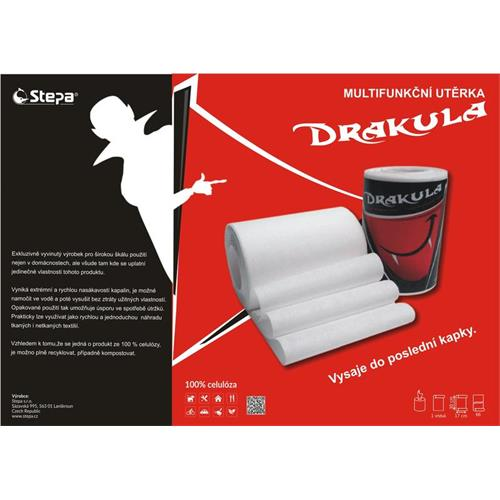 Drakula - papírová utěrka 66 útržků Drakula - papírová utěrka 66 útržků