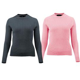 Pletený svetr Horze Rhea, růžový / modrý