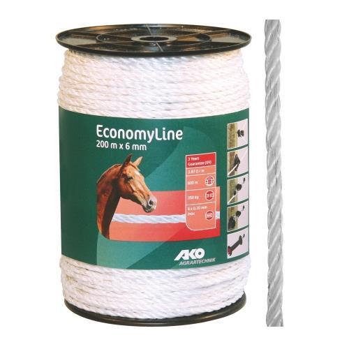 Polypropylenové lano STANDARD pro elektrické ohradníky 6 mm Polypropylenové lano pro elektrické ohradníky 6 mm LANO 6