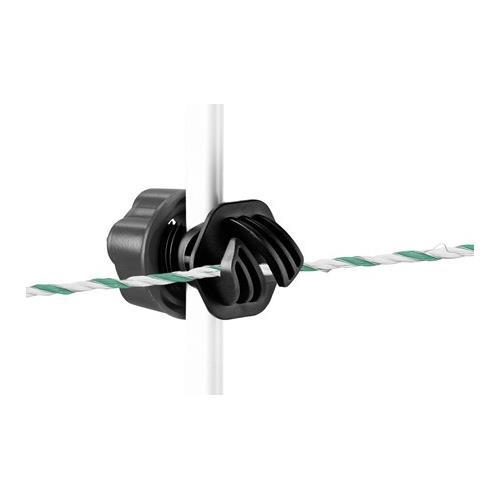 Tyčka pro elektrické ohradníky sklolaminátová 155 cm, průměr 10 mm - kovová špička Tyčka pro elektrické ohradníky sklolaminátová 155 cm, průměr 10 mm