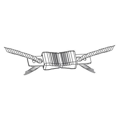 Spojka na lano Litzclip® do 6 mm - přímá, 5ks Spojka na lano Litzclip® do 6 mm - přímá, 5ks