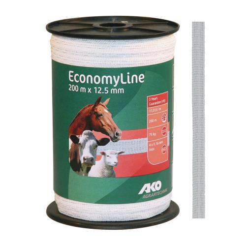 Polyetylenová páska pro elektrické ohradníky EconomyLine 12,5 mm Polyetylenová páska pro elektrické ohradníky EconomyLine 12,5 mm