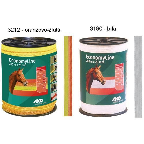 Polyetylenová páska pro elektrické ohradníky EconomyLine - BASIC 20 mm - bílá Polyetylenová páska pro elektrické ohradníky EconomyLine - BASIC 20 mm