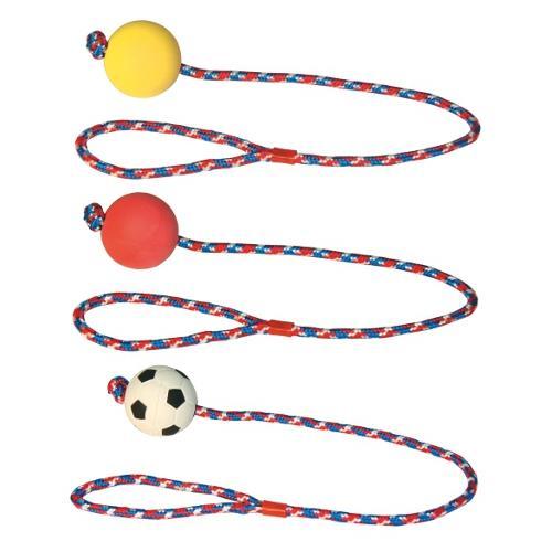 Hračka pro psy provaz s gumovým míčkem Hračka pro psa - provaz s gumovým míčkem