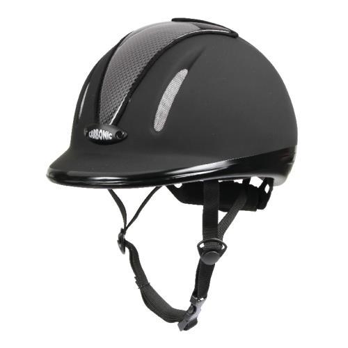 Jezdecká bezpečnostní přilba Covalliero Carbonic, černá - JUNIOR (50-54 cm) Jezdecká přilba CARBONIC