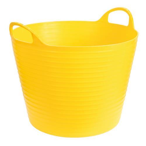 Plastový kbelík FLEXI, 42 - 45 l - zelená - žlutá Plastový kbelík FLEXI, 42 - 45 l