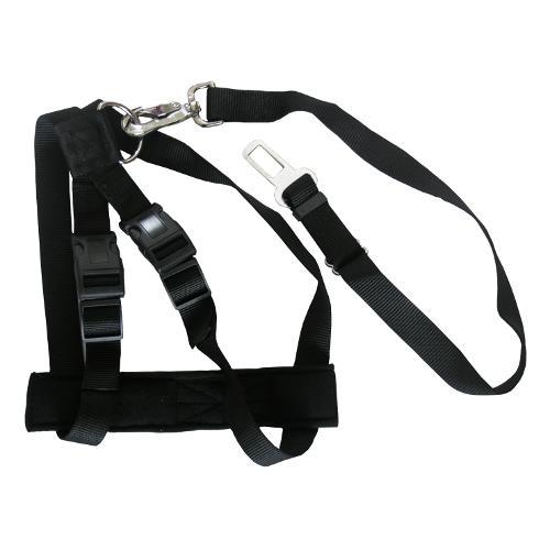 Bezpečnostní pás pro psa do auta - 70 - 90 cm, černý Bezpečnostní pás pro psa do auta