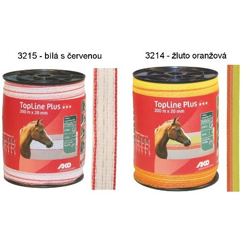 Polyetylenová páska pro elektrické ohradníky TopLine Plus 20 mm - bílá s červenou Polyetylenová páska pro elektrické ohradníky TopLine Plus 20 mm