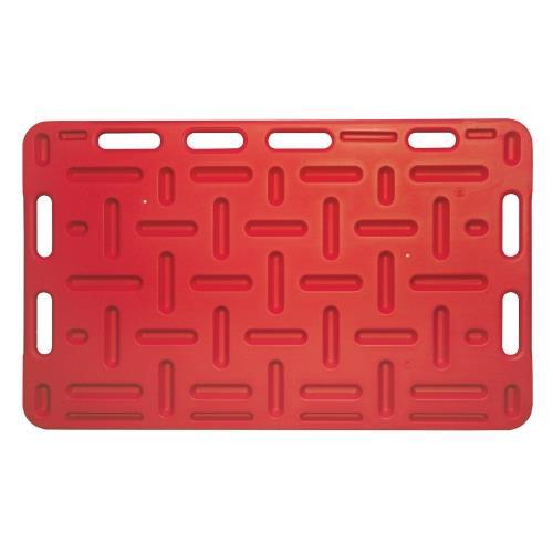 Naháňka pro prasata plastová, červená - 94 x 76 cm Naháňka pro prasata plastová, červená