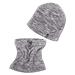 Set zimní ELT fleece Jura, čepice+tunel, šedý