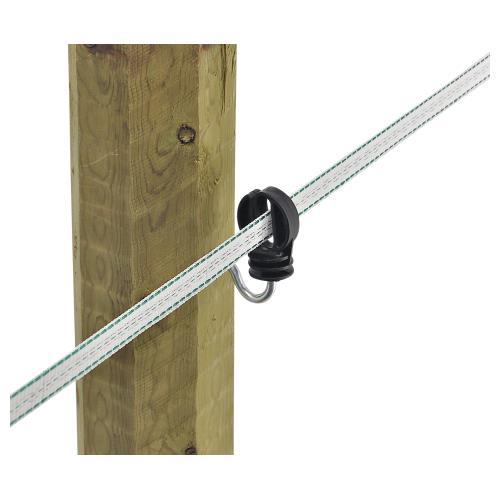 Isolátor pro elektrický ohradník  AKO,  pro pásku do 20 mm, zahnutý vrut 6 mm Isolátor pro elektrický ohradník  AKO,  pro pásku do 20 mm, zahnutý vrut 6 mm