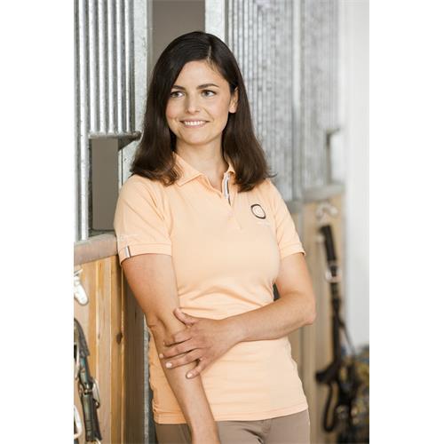Dámské bavlněné triko Covalliero Bridget, meruňkové - vel. L Triko dámské Bridget, meruňkové