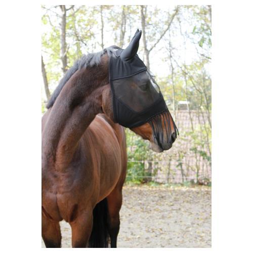 Maska proti hmyzu s ušima a třásněmi Covalliero, černá - vel. Pony Maska s ušima a třásněmi Kerbl, černá, vel. Pony