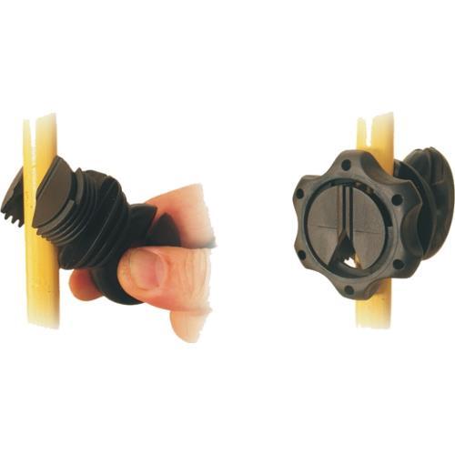 Izolátor pro elektrické ohrady LACME IVABLOC na sklolaminátové tyče - jednotlivě Izolátor pro elektrické ohradníky LACME IVABLOC na sklolaminátové tyče