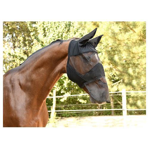 Maska proti hmyzu s krytkou přes nos Covalliero, černá - vel. Pony Maska HH, krytka přes nos, černá, vel. Pony